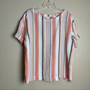 NWOT A New Day Striped Linen Top